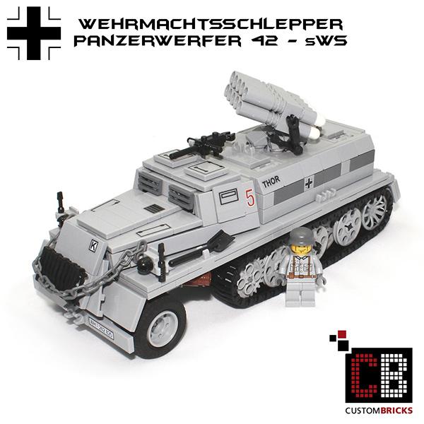 LEGO-Custom-WW2-WWII-Panzerwerfer-42-sWS-Bausteine-ankauf